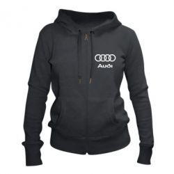 Женская толстовка на молнии Audi - FatLine