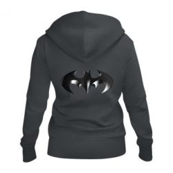 """Женская толстовка на молнии Batman """"3d Logo"""""""