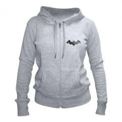 Женская толстовка на молнии Batman: arkham city