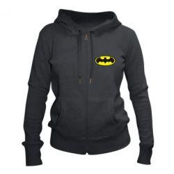 Женская толстовка на молнии Batman