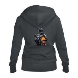Женская толстовка на молнии Battlefield Warrior