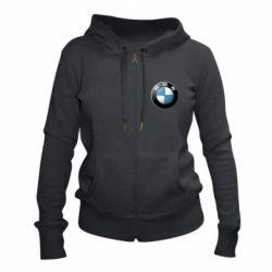 Женская толстовка на молнии BMW Logo 3D
