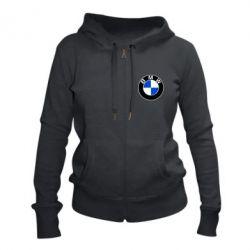 Женская толстовка на молнии BMW - FatLine