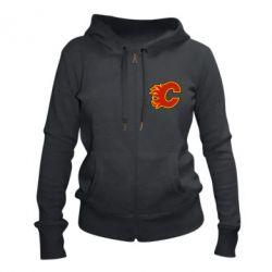Женская толстовка на молнии Calgary Flames - FatLine