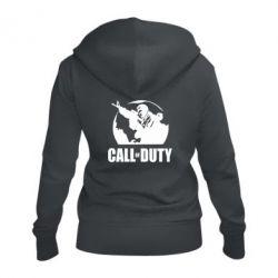 Женская толстовка на молнии Call of Duty Logo