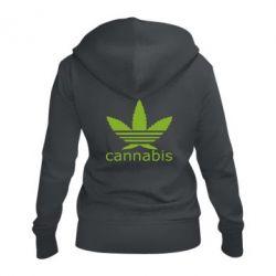 Жіноча толстовка на блискавці Cannabis