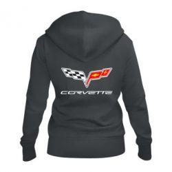 Жіноча толстовка на блискавці Chevrolet Corvette