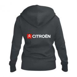 Жіноча толстовка на блискавці Citroën Logo