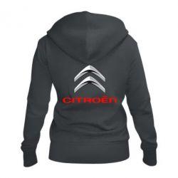 Женская толстовка на молнии Citroen лого
