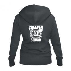 Жіноча толстовка на блискавці Creeper Squad
