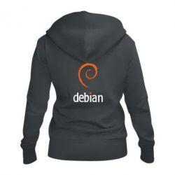 Женская толстовка на молнии Debian