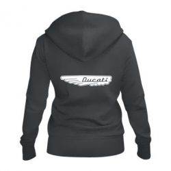 Жіноча толстовка на блискавці Ducati Motors