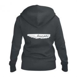 Женская толстовка на молнии Ducati Motors