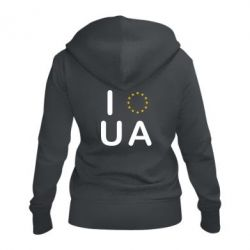 Женская толстовка на молнии Euro UA - FatLine