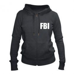 Женская толстовка на молнии FBI (ФБР)