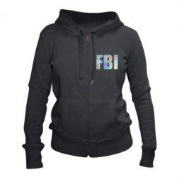 Жіноча толстовка на блискавці FBI голограма