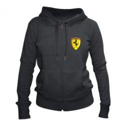Женская толстовка на молнии Ferrari 3D Logo