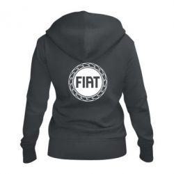 Жіноча толстовка на блискавці Fiat logo