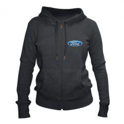 Женская толстовка на молнии Ford 3D Logo
