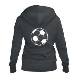Жіноча толстовка на блискавці Футбольний м'яч