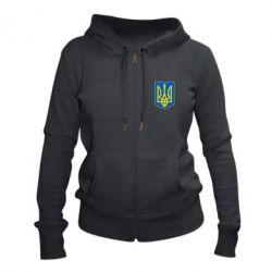 Женская толстовка на молнии Герб неньки-України
