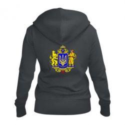 Женская толстовка на молнии Герб Украины полноцветный