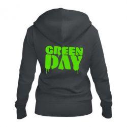 Женская толстовка на молнии Green Day