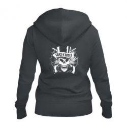 Жіноча толстовка на блискавці Guns n' Roses Logo
