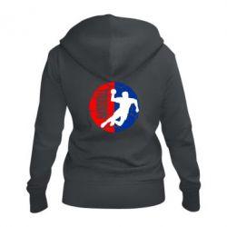 Женская толстовка на молнии Handball Logo