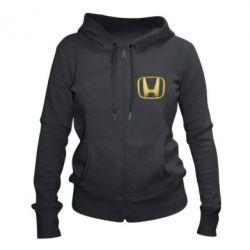 Жіноча толстовка на блискавці Honda Gold Logo
