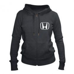 Женская толстовка на молнии Honda Logo
