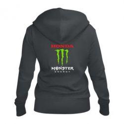 Жіноча толстовка на блискавці Honda Monster Energy