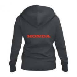 Жіноча толстовка на блискавці Honda напис