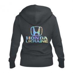Жіноча толстовка на блискавці Honda Ukraine Голограма
