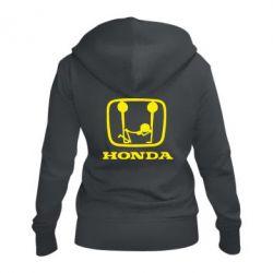 Женская толстовка на молнии Honda - FatLine