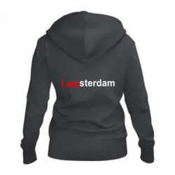 Женская толстовка на молнии I amsterdam