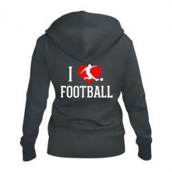 Жіноча толстовка на блискавці I love football