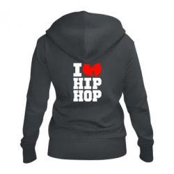 Женская толстовка на молнии I love Hip-hop Wu-Tang