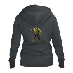 Жіноча толстовка на блискавці Incredible Hulk 2