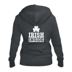 Женская толстовка на молнии Irish Inside