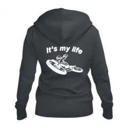 Жіноча толстовка на блискавці it's my moto life