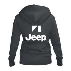 Женская толстовка на молнии Jeep Logo