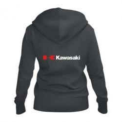 Жіноча толстовка на блискавці Kawasaki Logo