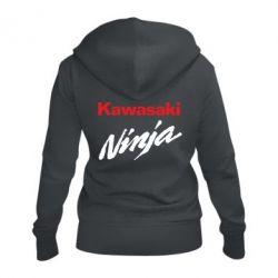 Женская толстовка на молнии Kawasaki Ninja