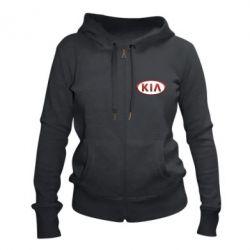 Жіноча толстовка на блискавці KIA 3D Logo