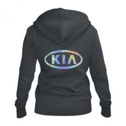 Женская толстовка на молнии KIA logo Голограмма