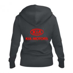 Жіноча толстовка на блискавці Kia Logo