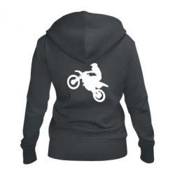 Женская толстовка на молнии Кроссовый мотоцикл