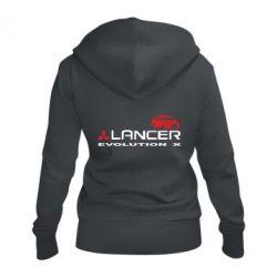 Женская толстовка на молнии Lancer Evolution X