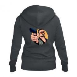 Жіноча толстовка на блискавці Лебовськи з пістолетом